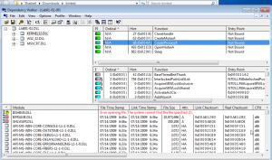 Dependency Walker listing dependent modules